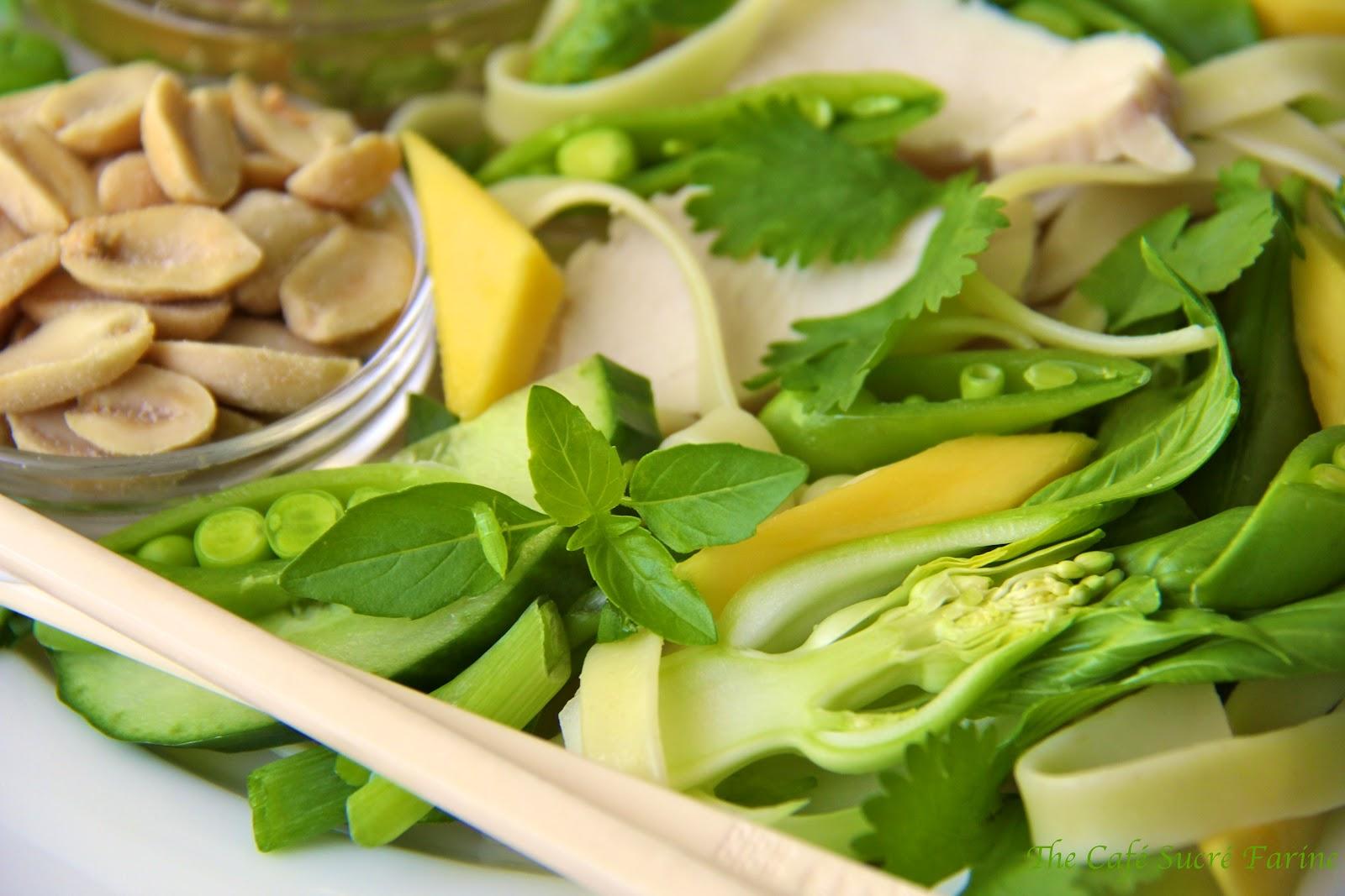 Thai Noodle Salad w/ Coconut Milk-Poached Chicken, Avocado, Bok Choy ...