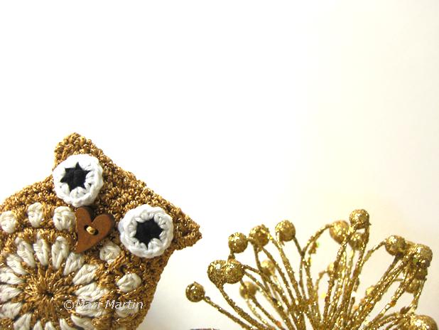 crochet owl Christmas