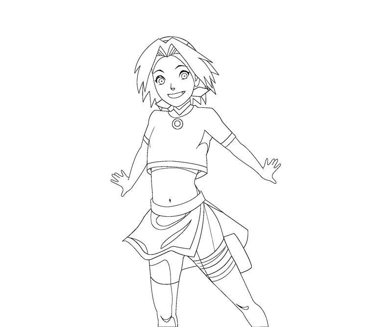 sakura haruno coloring pages - photo#3