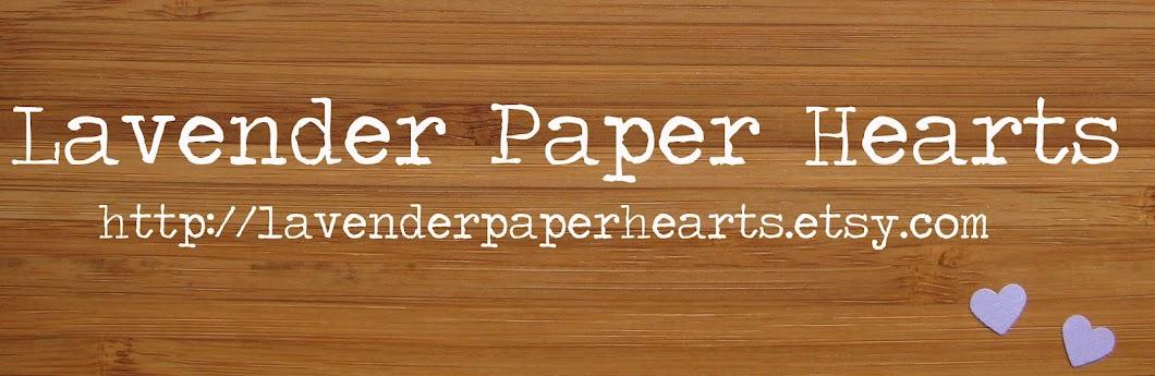 Lavender Paper Hearts