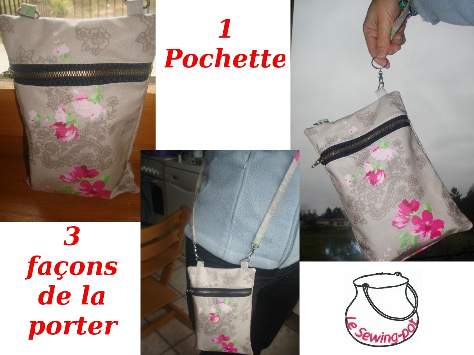 pochette triple usage