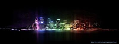 Couverture facebook timeline ville la nuit