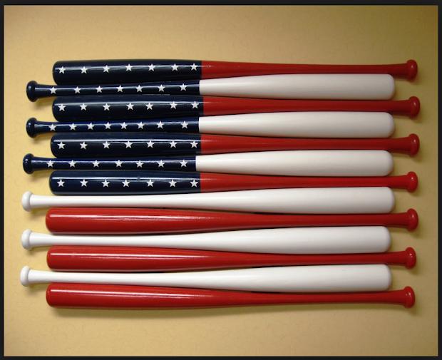 Baseball Bat American Flag