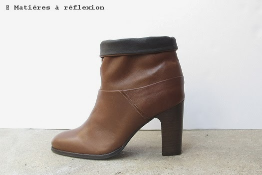 Low boots cuir cognac Atelier do Sapato