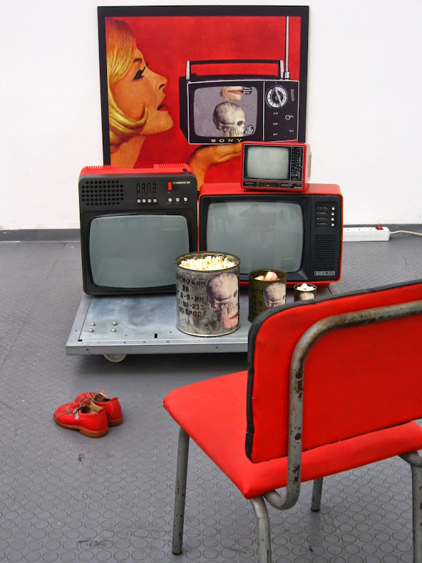 Television rules the nation, Welcome to the new world order Installation view.