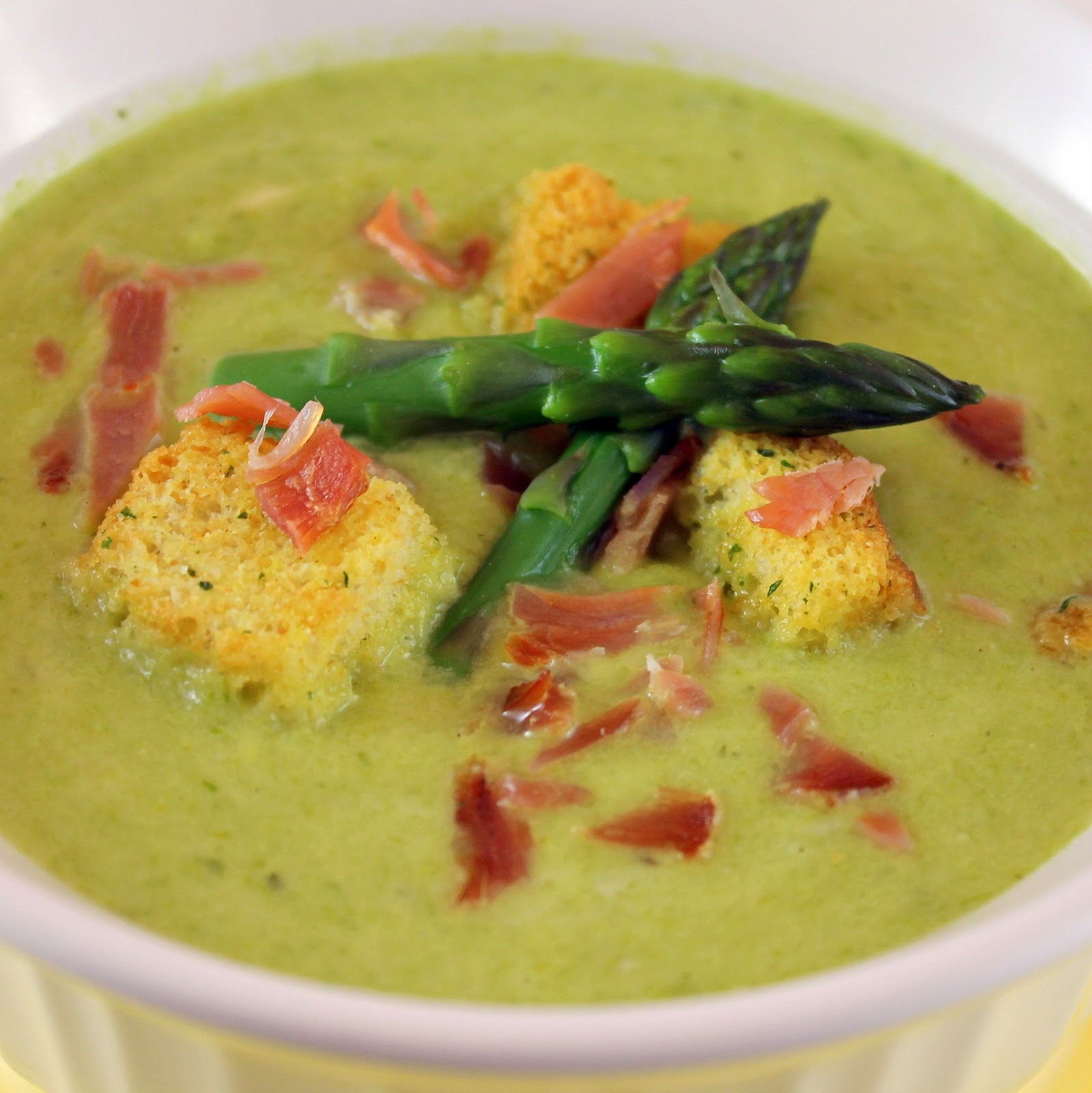 Creamy Asparagus Soup with Prosciutto   I Can Cook That