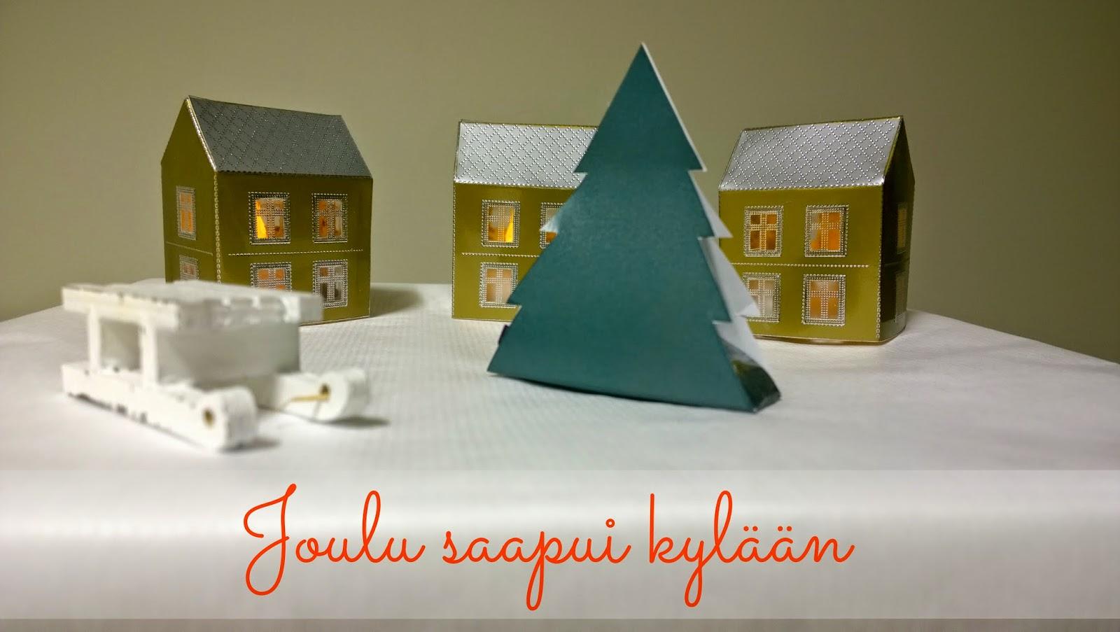 Kaikki Paketissa joululahja paketointi-idea joulukylä