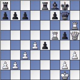 Posición de la partida de ajedrez Vilardebó contra Reti, Olimpiada de Londres de 1927