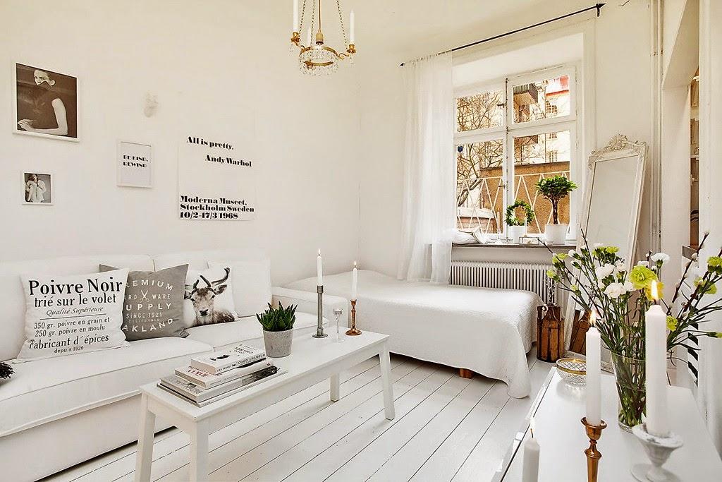 Alb imaculat ntr o garsonier de 20 m jurnal de design for Como decorar un estudio de 20 metros cuadrados