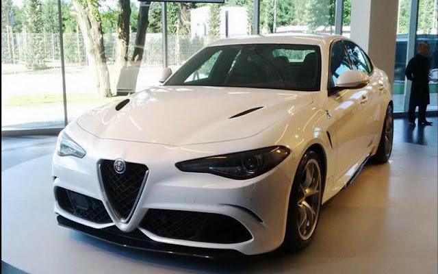 White Alfa Romeo Giulia