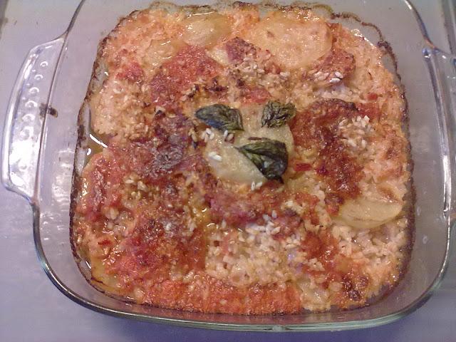 riso e patate al forno alla Venosina