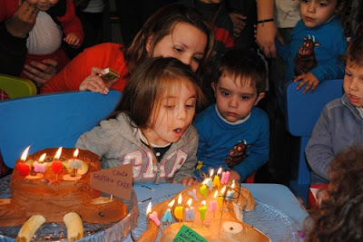 blowing candles