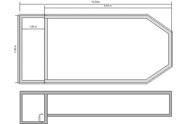Arquitectura de casas informaci n sobre proyectos de for Planos de piscinas temperadas