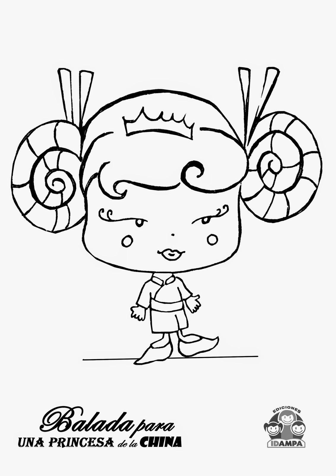 Sobre bocetos,diseños y poemas.: Princesa china para pintar