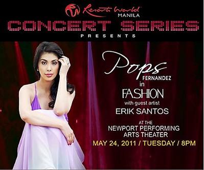 Pops Fernandez Live In Resort World Manila, poster, pictures, image, billboard,even, Pops Fernandez