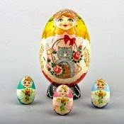 Egg Shape Nesting Doll from Russia