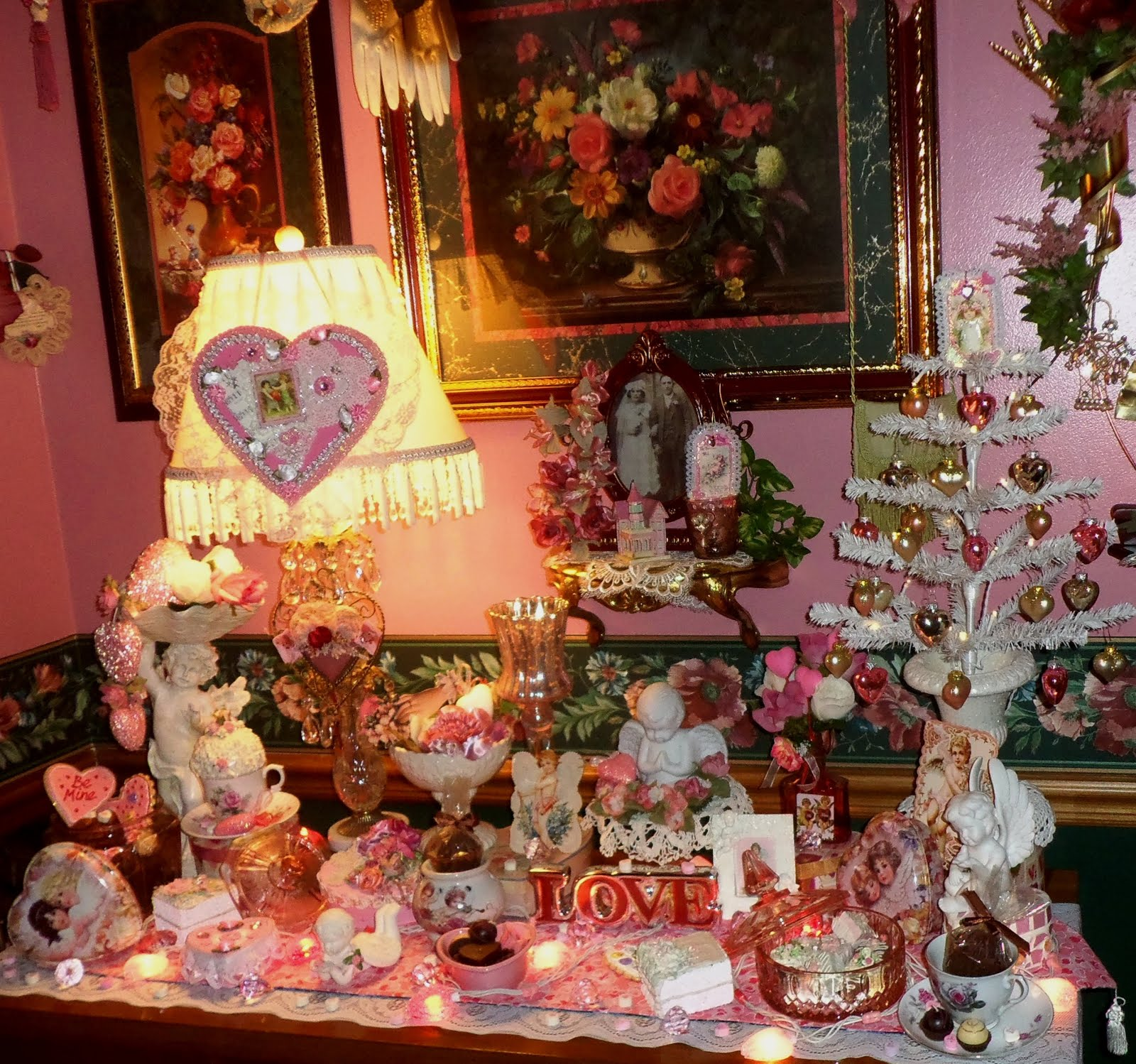Dining Room Valentine Decor, the Buffet, Part 1, 2016