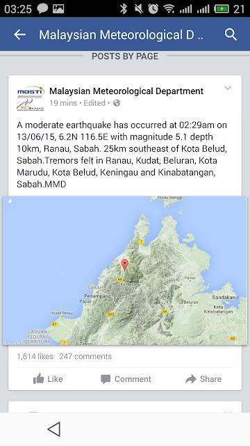 earthquake ranau