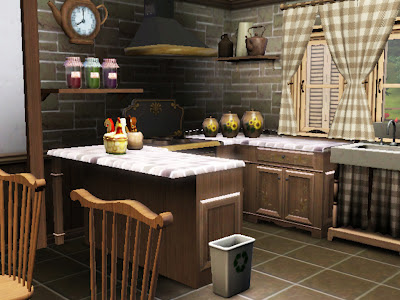 kitchen old country sims 3