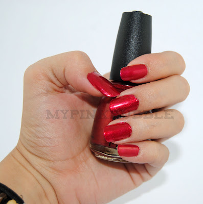 China Glaze Cramberry Splash swatch