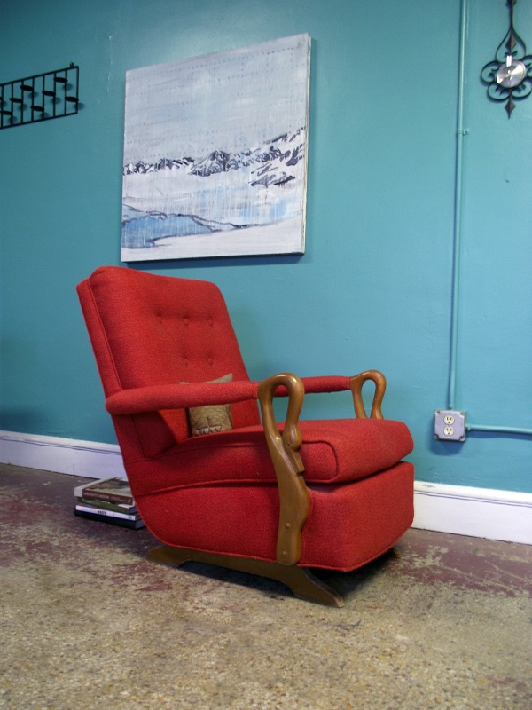 Vintage Ground Awesome Retro Mid Century Red