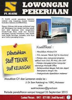 Lowongan Kerja PT Suatri Makassar