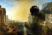 La construcción de Cartago en tiempos de la reina Dido, tal como la relató Virgilio en la Eneida de Turner,  1815