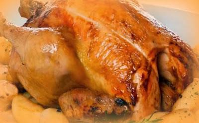 Pollo relleno con almendras