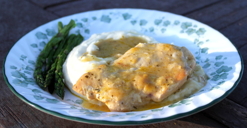Creamy Ranch Chicken and Roasted Garlic Mashed Potatoes - Jamie Cooks ...