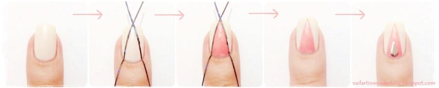 Girly Pink Geometric Nail Art with studs