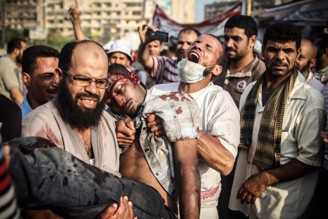 Июльские столкновения демонстрантов с сотрудниками службы безопасности в Каире