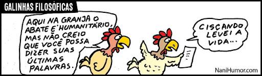 As galinhas filosóficas. abate