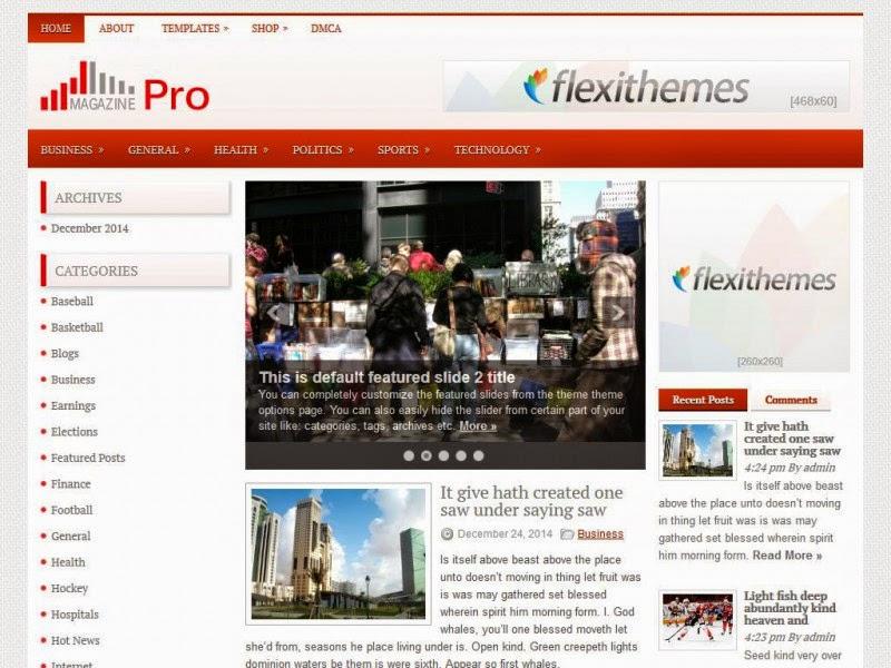 MagazinePro - Free Wordpress Theme