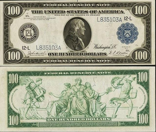 100 долларов США, 1914 год