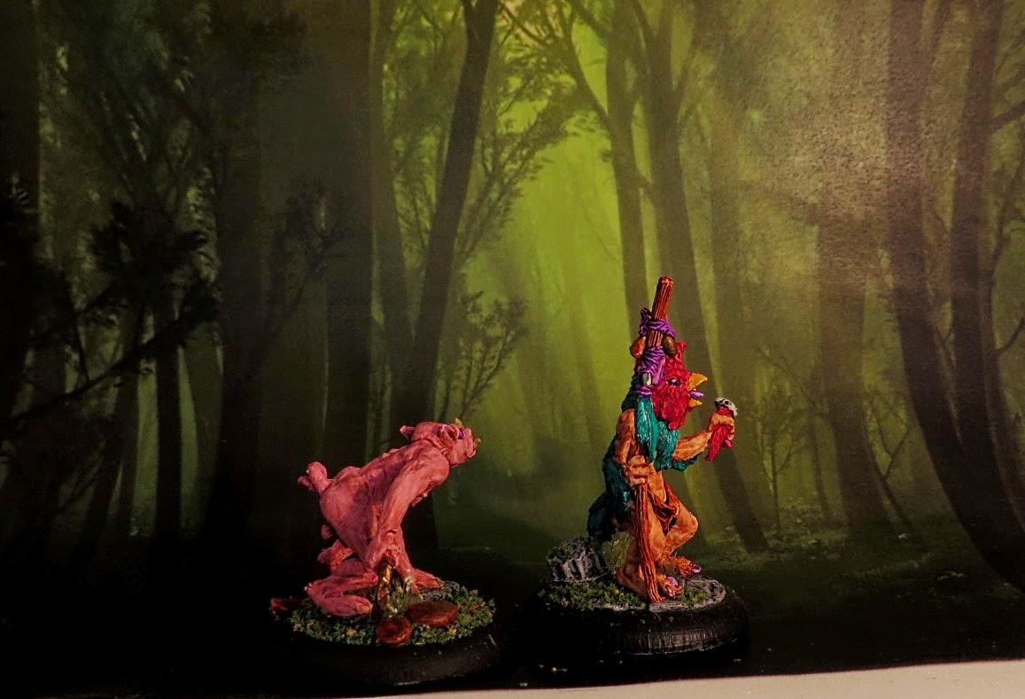 Goatkin, Fenris, beastmen, painted, Shaman, Perky, George