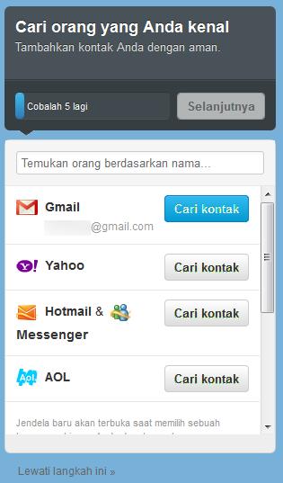 Menelusuri Teman Via Email