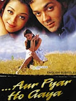 Aishwarya Rai first movie Aur Pyar Ho gaya poster