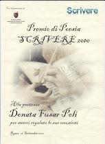 """""""Premio di Poesia"""" Scrivere 2010  partecipazione"""