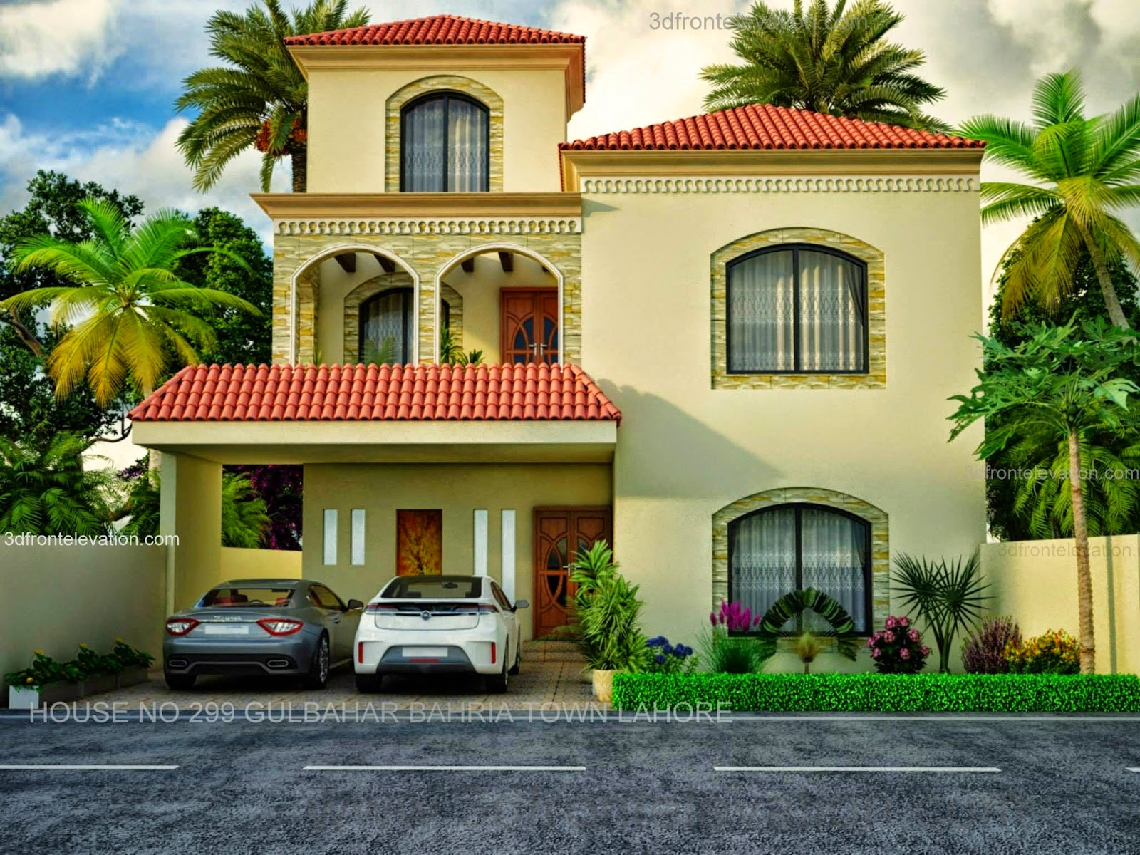 10 Marla  New House, 3dfrontelevation.com, European Design in Bahria Town, Lahore,