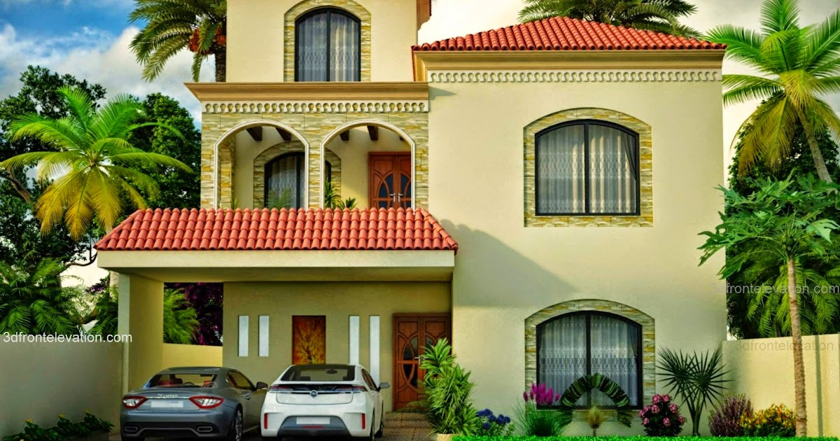 Front Elevation Bahria Town : D front elevation new marla house european design