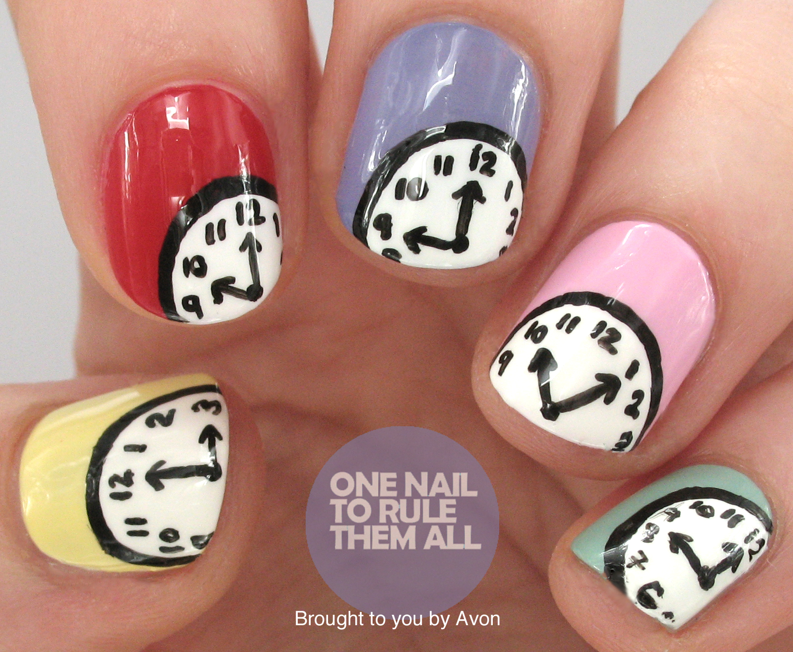 One Nail To Rule Them All Clock Nail Art For Avon