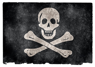 Bandera pirata impresa