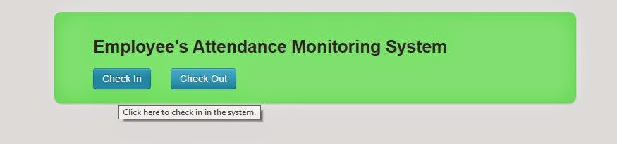 attendance monitoring system there are two