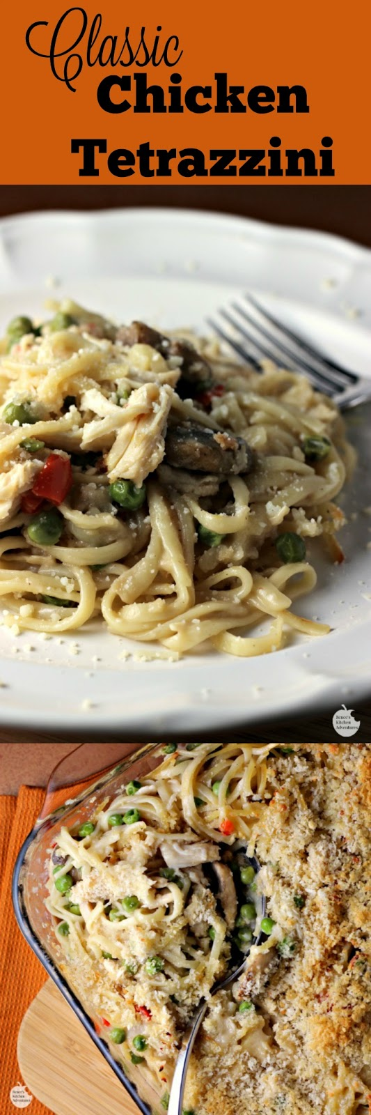 Classic Chicken Tetrazzini | by Renee's Kitchen Adventures - Easy recipe for a budget-friendly dinner that is a great way to use up holiday leftovers!