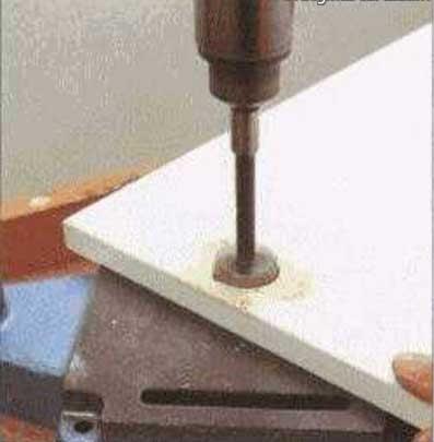 Просверлить отверстие для крепления после шлифовки