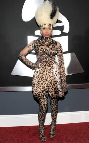 Nicki Minaj T4 Sunday. nicki minaj new hair leopard.