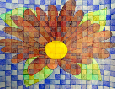 Sharpies paint and paper oh my chuck close inspired art - Colored paper art projects ...