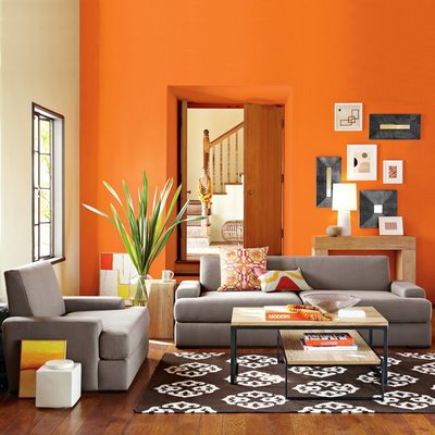 Contemporary Modern Living Rooms on Modern House  Ideas Of Orange Modern Living Room Decoration
