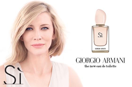Cate Blanchett w kampanii Armani Si Eau de Toilette