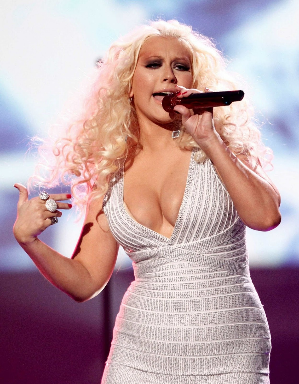 big Christina cleavage aguilera